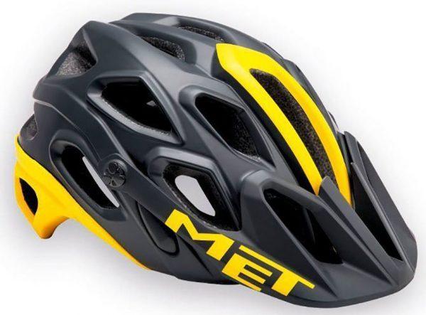 Шлем MET Lupo Black/Yellow (матовый)