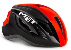 Шлем MET Strale Black/Red Panel (глянцевый)
