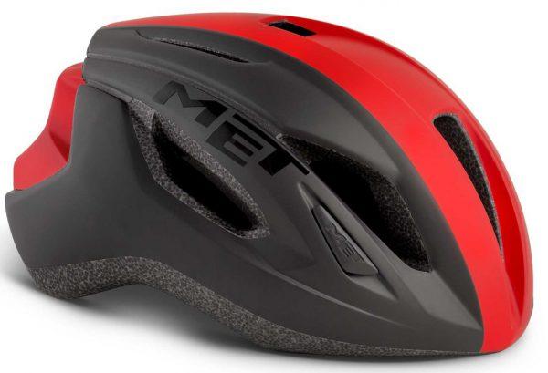 Шлем MET Strale Black/Red Panel (матовый)