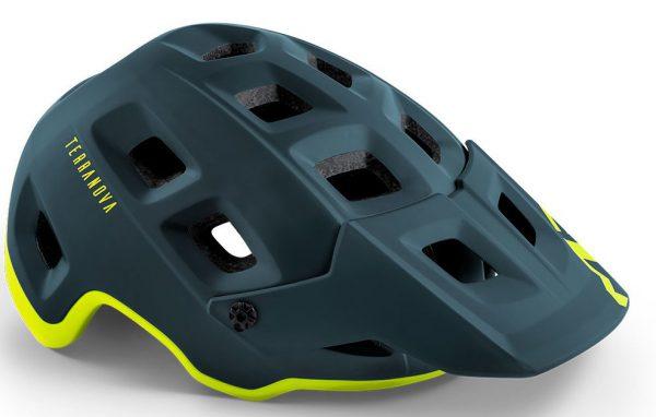 Шлем MET Terranova Petrol Blue Lime Green (матовый)