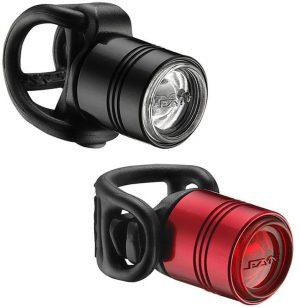 Комплект света Lezyne Femto Drive Pair, (15/7 lumen), черный/красный Y13