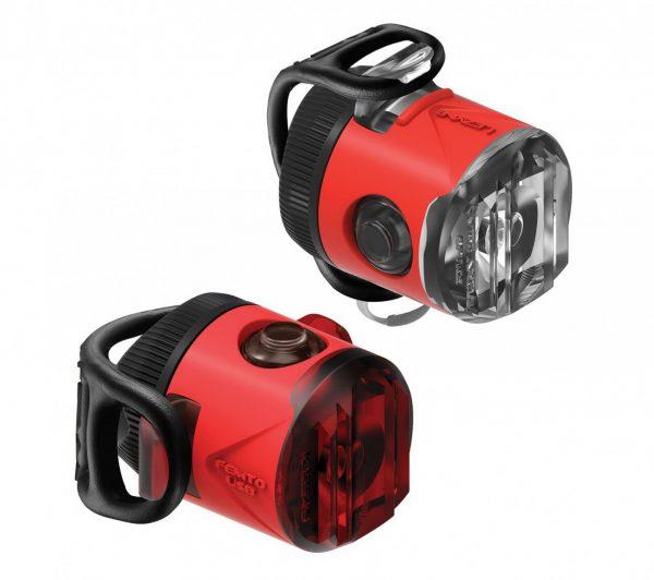 Комплект мигалок Lezyne Femto USB Drive Pair, (15/5 lumen), красный Y13