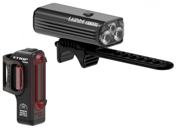 Комплект света Lezyne Macro Drive 1300XL/Strip Pro Pair, (1300/300 lumen), черный Y13