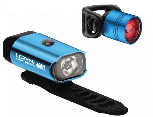 Комплект света Lezyne Mini Drive 400/Femto Drive Pair, (400/7 lumen), голубой Y13