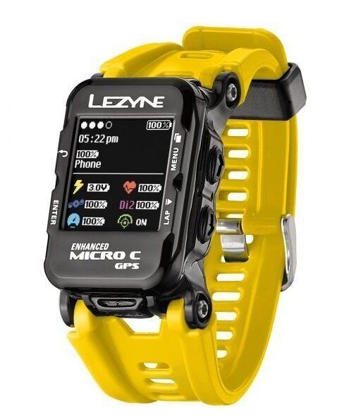 Часы-велокомпьютер Lezyne GPS Watch Color, желтый Y12