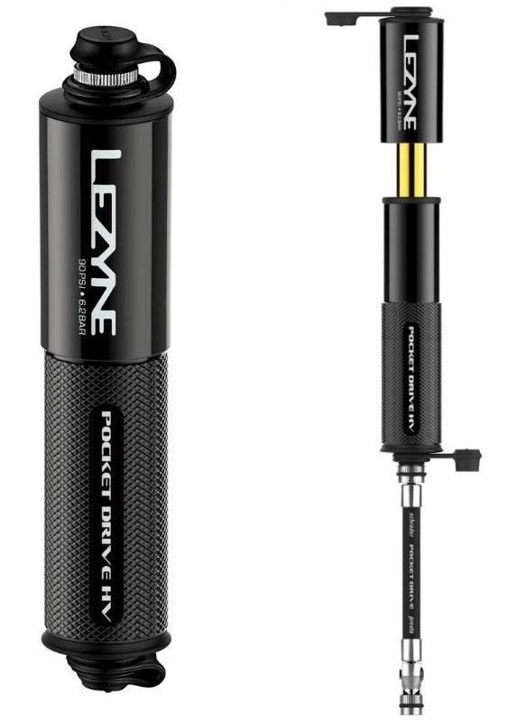 Насос ручной Lezyne Pocket Drive HV, 90psi, черный Y14