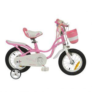 Розовый велосипед для девочек RoyalBaby LITTLE SWAN 14″