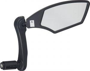 Зеркало Merida Mirror/Edge Black/Grey, диаметр 14.8-23 мм