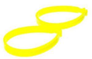 Пластиковые клипсы для зажима штанин, желтые