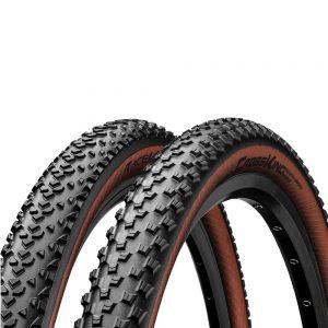 Покрышка Continental Cross King RaceSport — 29 x 2.20, черная/ коричневая, складная, skin