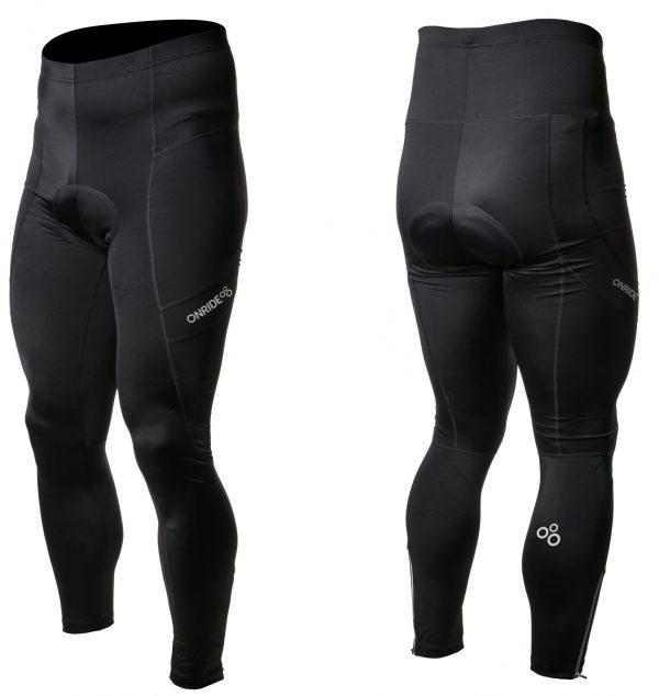 Велоштаны Onride Heel без лямок с памперсом Black