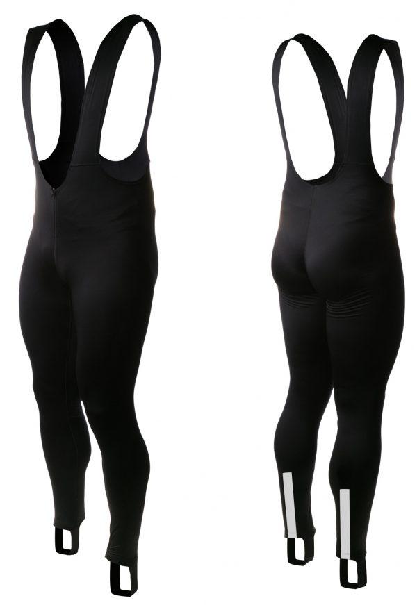 Велоштаны Onride Skin с лямками без памперса Black