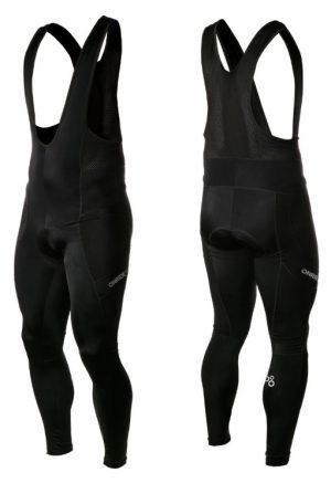Велоштаны Onride Peel с лямками с памперсом Black
