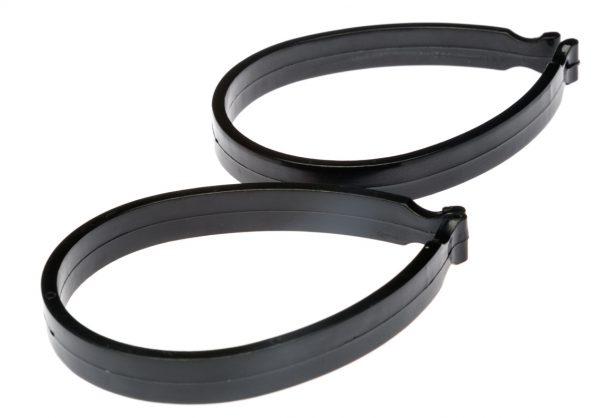 Пластиковые клипсы для зажима штанин, черные