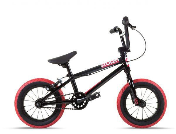 Велосипед 12″ Stolen AGENT 13.25″ Black W/ Dark Red Tires 2021