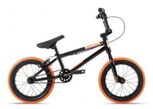 Велосипед 14″ Stolen AGENT 14.60″ Black W/ Dark neon orange tires 2021