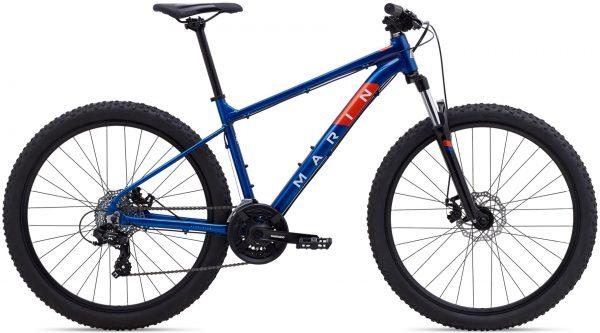 Велосипед 29″ Marin BOLINAS RIDGE 1 Gloss Blue/Off-White/Roarange 2021