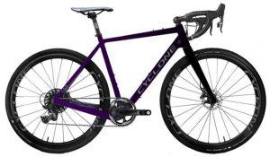 Велосипед 28″ Cyclone CGX Black-purple 2021