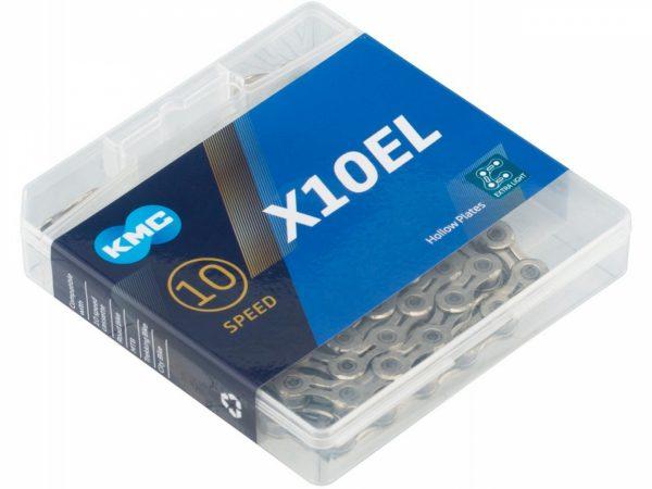 Цепь KMC X10 EL, 10 скоростей, 114 звеньев + замок