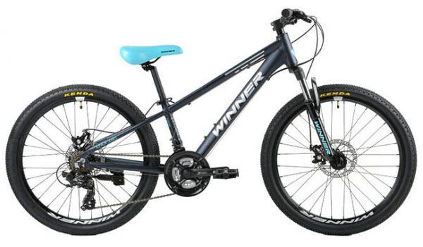 Велосипед 24″ Winner Bullet Black-blue 2021