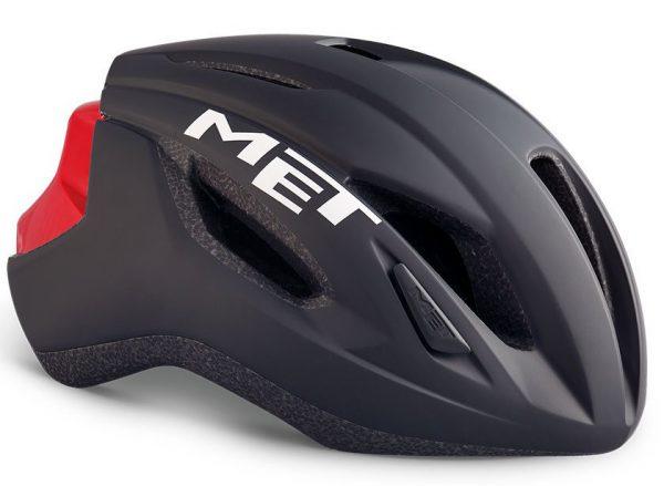 Шлем MET Strale Black/Red (матовый/глянцевый)