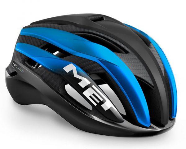 Шлем MET Trenta 3K Carbon CE Black Blue Metallic | Matt Glossy