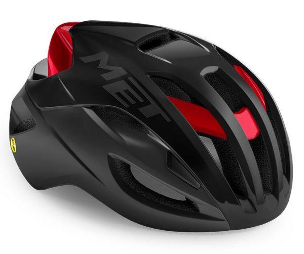 Шлем Met Rivale MIPS CE Black Red Metallic | Matt Glossy