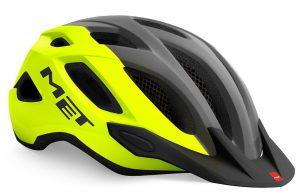 Шлем MET Crossover Fluo Yellow Gray (матовый)