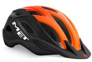 Шлем MET Crossover Black-Orange (глянцевый)