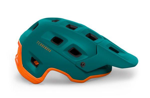 Шлем MET Terranova CE Alpine Green Orange | Matt Glossy