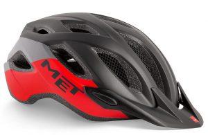 Шлем MET Crossover Black Red (матовый)