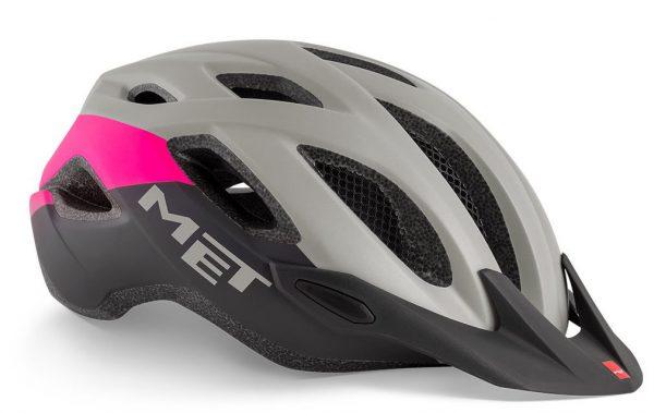 Шлем MET Crossover Gray-Pink (матовый)