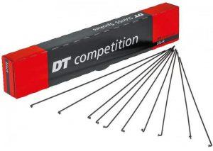 Спицы изогнутые DT Swiss Competition 2.0 / 1.8 x 258-296 мм, черные 100 шт