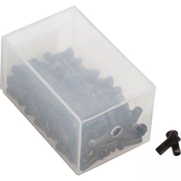 Ниппели DT Swiss латунные Pro Head Brass 2.0 x 12 мм, черные 100 шт