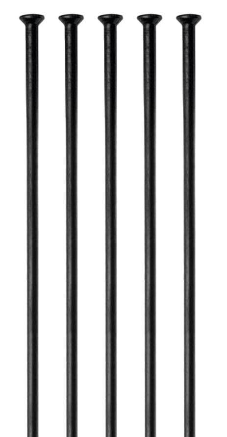 Спицы DT Swiss Сhampion Straight pull 2.0 мм x 280-310 мм, черные 100 шт