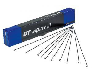 Спицы изогнутые DT Swiss Alpine III Standard 2.0/1.8/2.34 мм x 259-274 мм, черные 100 шт