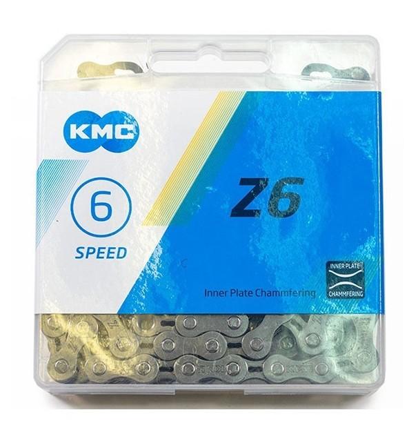 Цепь KMC Z6 6 скоростей 114L, серо-коричневый